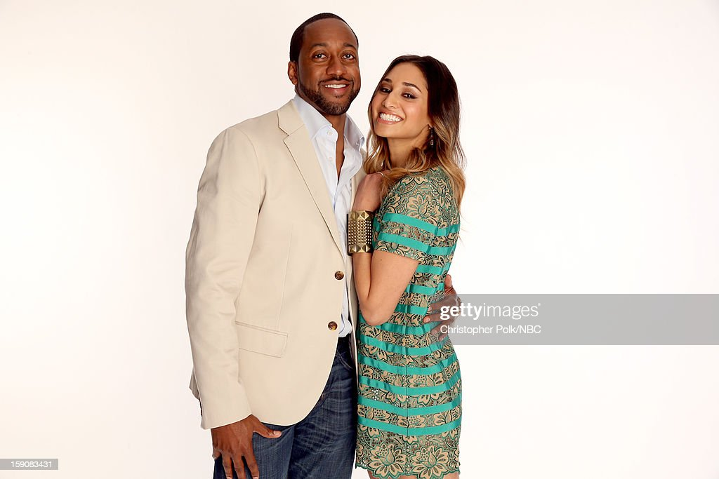 Actors Jaleel White (L) and Meaghan Rath attend the 2013 Winter TCA Tour- Day 4 at The Langham Huntington Hotel and Spa on January 7, 2013 in Pasadena, California.