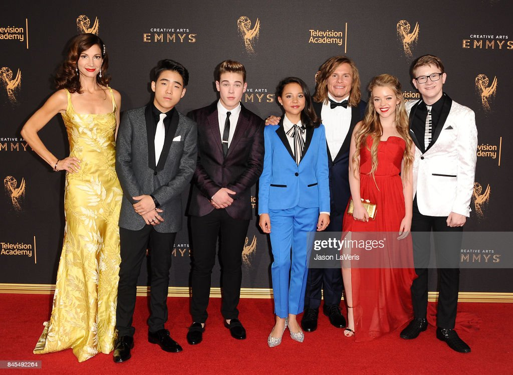 Actors Jama Williamson, Lance Lim, Ricardo Hurtado, Breanna Yde, Tony Cavalero, Jade Pettyjohn and Aidan Miner attend the 2017 Creative Arts Emmy Awards at Microsoft Theater on September 10, 2017 in Los Angeles, California.