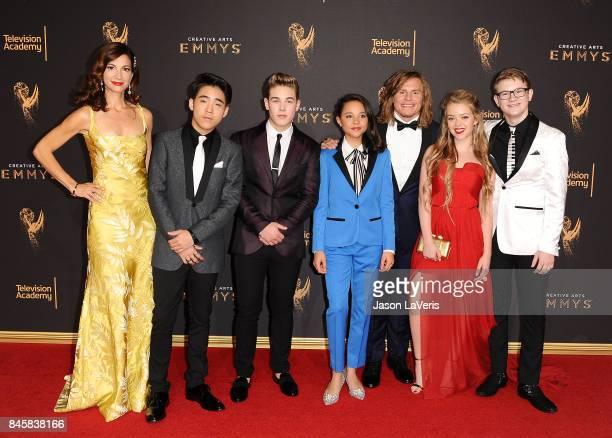 Actors Jama Williamson Lance Lim Ricardo Hurtado Breanna Yde Tony Cavalero Jade Pettyjohn and Aidan Miner attend the 2017 Creative Arts Emmy Awards...