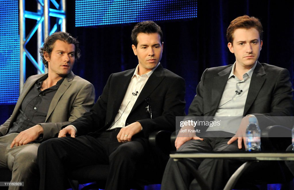 Actors James Badge Dale Jon Seda and Joe Mazzello of 'The Pacific' speak during the HBO portion of the 2010 Television Critics Association Press Tour...