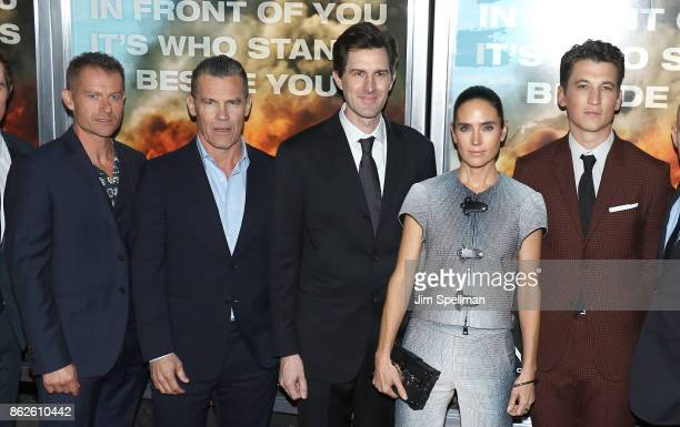 Actors James Badge Dale Josh Brolin director Joseph Kosinski actors Jennifer Connelly and Miles Teller attend the 'Only The Brave' New York screening...
