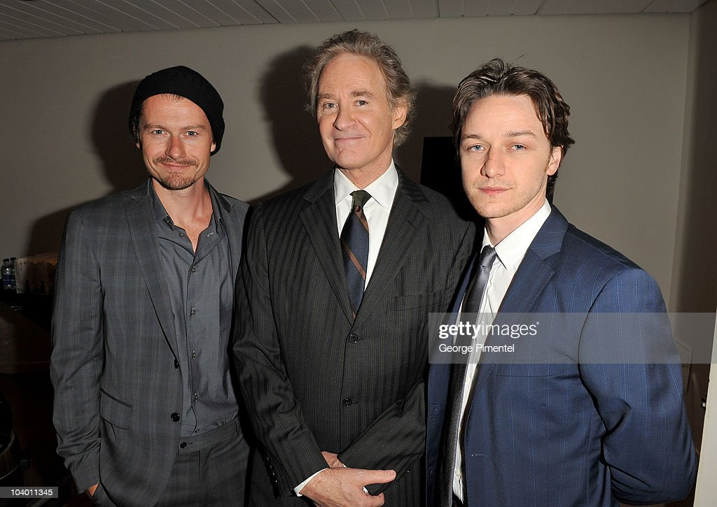 Actors James Badge Dale Kevin Kline and James McAvoy attend 'The Conspirator' Premiere held at Roy Thomson Hall during the 35th Toronto International...