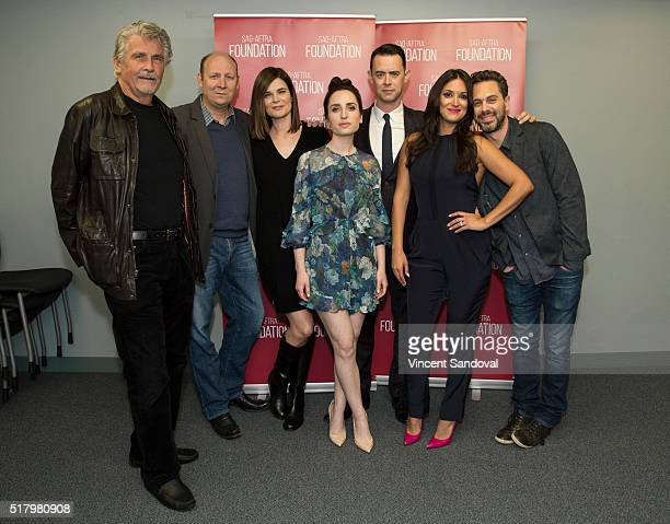 Actors James Brolin Dan Bakkedahl Betsy Brandt Zoe ListerJones Colin Hanks Angelique Cabral and Thomas Sadoski attend SAGAFTRA Foundation...