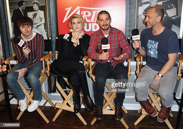 Actors James Buckley Evan Rachel Wood Shia LaBeouf and director Fredrik Bond attend Day 4 of the Variety Studio at 2013 Sundance Film Festival on...