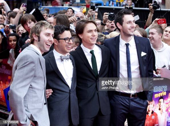 Actors James Buckley Simon Bird Joe Thomas And Blake Harrison Attend The World Film Premiere Of The Inbetweeners Movie At Vue West End