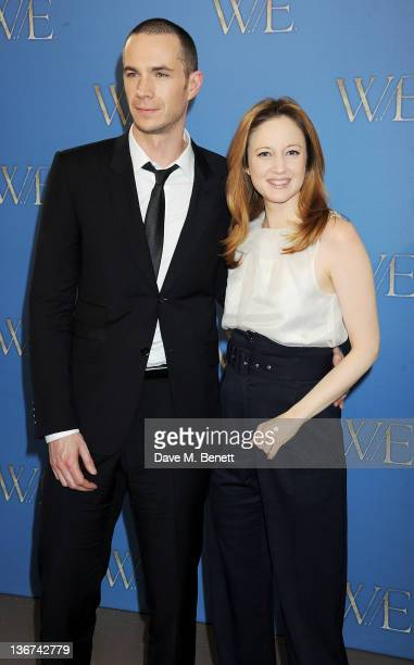 Actors James D'Arcy and Andrea Riseborough attend a photocall to promote the new film 'WE' at the London Studios on January 11 2012 in London United...