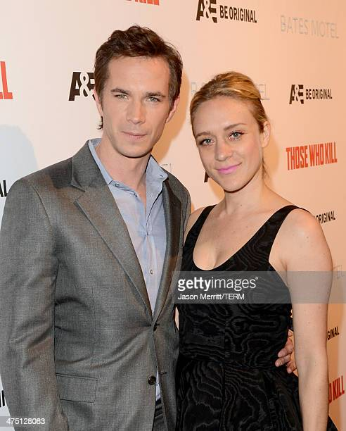 Actors James D'Arcy and Chloe Sevigny attend AE's 'Bates Motel' and 'Those Who Kill' Premiere Party at Warwick on February 26 2014 in Hollywood...