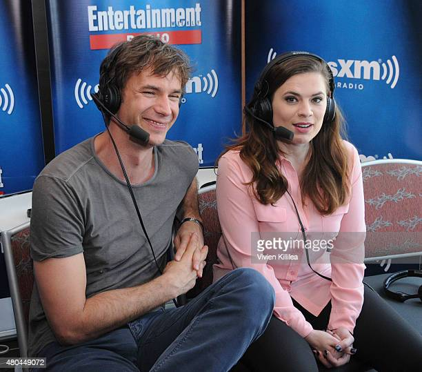 Actors James D'Arcy and Hayley Atwell attend SiriusXM's Entertainment Weekly Radio Channel Broadcasts From ComicCon 2015 at Hard Rock Hotel San Diego...