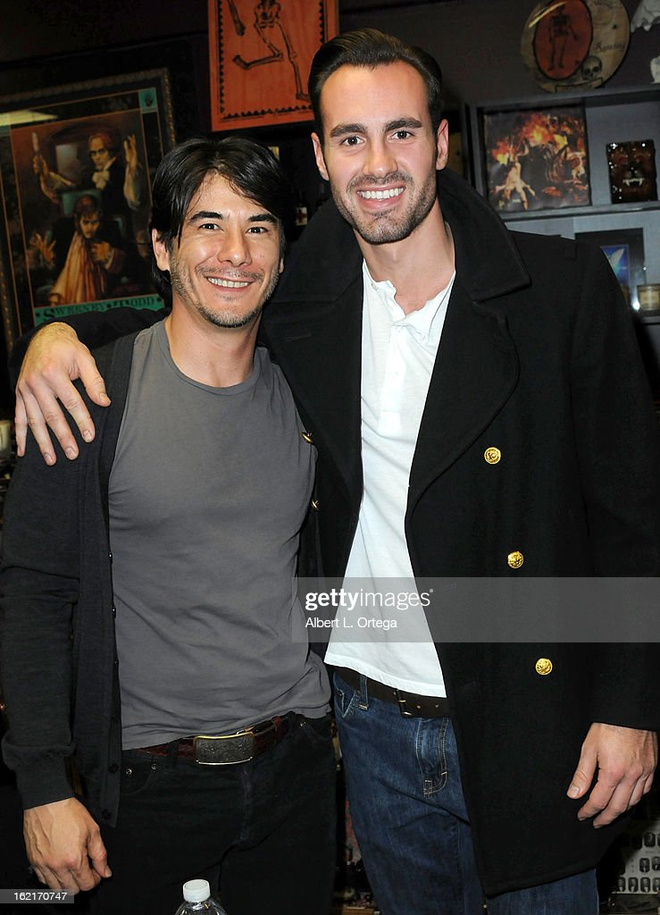 Actors James Duval and Ivan Djurovic participate in the Blu-ray And DVD Release Party For Magnolia Home Entertainment's 'Sushi Girl' held at Dark Delicacies Bookstore on February 19, 2013 in Burbank, California.