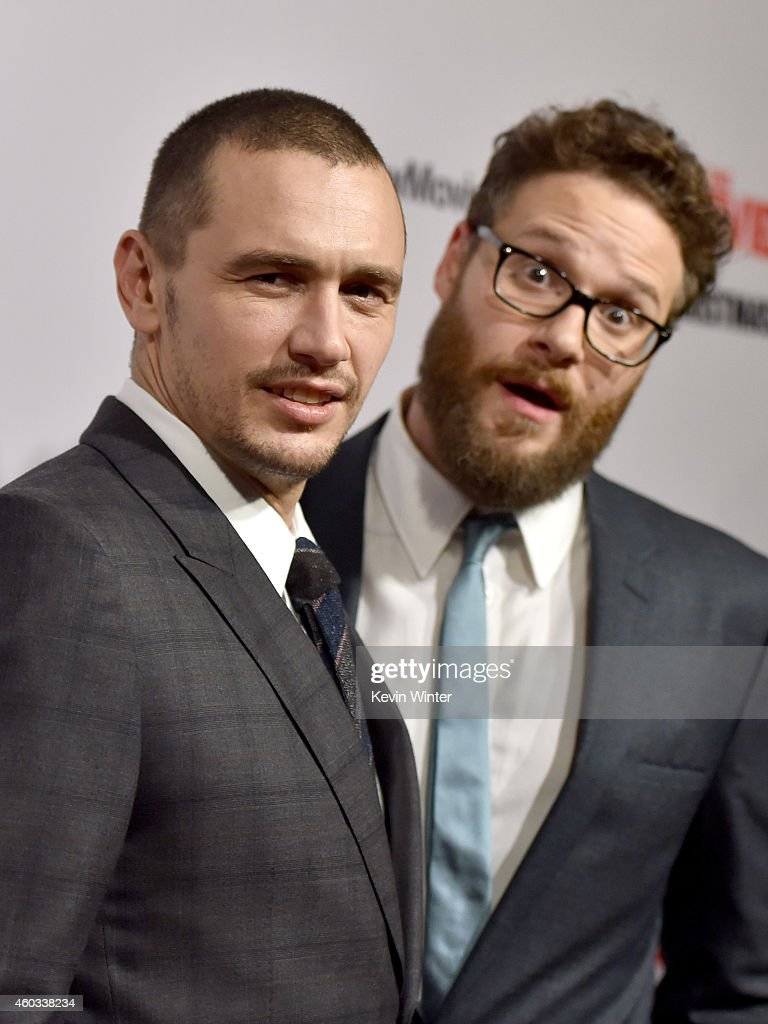 Actors <a gi-track='captionPersonalityLinkClicked' href=/galleries/search?phrase=James+Franco&family=editorial&specificpeople=577480 ng-click='$event.stopPropagation()'>James Franco</a> (L) and <a gi-track='captionPersonalityLinkClicked' href=/galleries/search?phrase=Seth+Rogen&family=editorial&specificpeople=3733304 ng-click='$event.stopPropagation()'>Seth Rogen</a> attend the Premiere of Columbia Pictures' 'The Interview' at The Theatre at Ace Hotel Downtown LA on December 11, 2014 in Los Angeles, California.