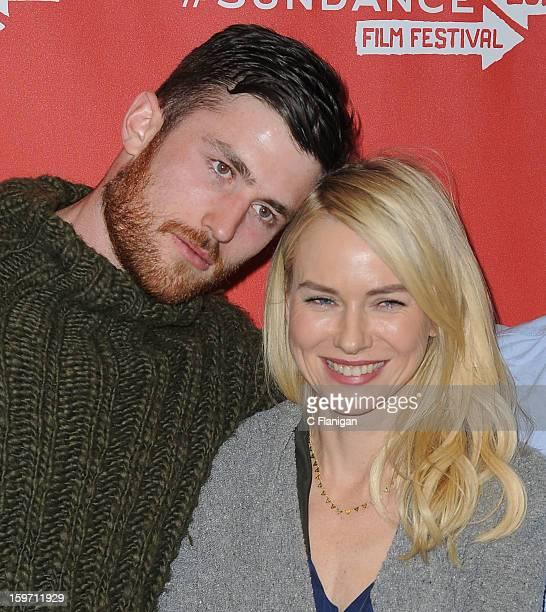 Actors James Frecheville and Naomi Watts attend the 'Two Mothers' Premiere during the 2013 Sundance Film Festival at Eccles Center Theatre on January...
