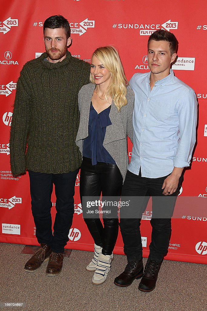 Actors James Frecheville, Naomi Watts and Xavier Samuel arrive at the 'Two Mothers' Premiere at the 2013 Sundance Film Festival at Eccles Center Theatre on January 18, 2013 in Park City, Utah.