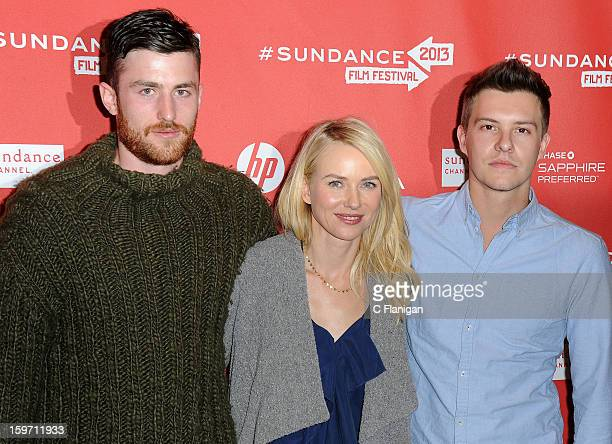 Actors James Frecheville Naomi Watts and Xavier Samuel attend the 'Two Mothers' Premiere during the 2013 Sundance Film Festival at Eccles Center...