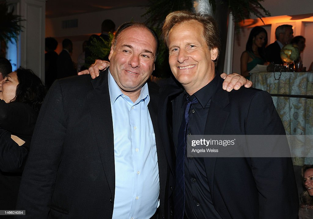 Actors <a gi-track='captionPersonalityLinkClicked' href=/galleries/search?phrase=James+Gandolfini&family=editorial&specificpeople=171463 ng-click='$event.stopPropagation()'>James Gandolfini</a> and Jeff Daniels attend the after party for HBO's New Series 'Newsroom' Los Angeles Premiere at Boulevard3 on June 20, 2012 in Hollywood, California.