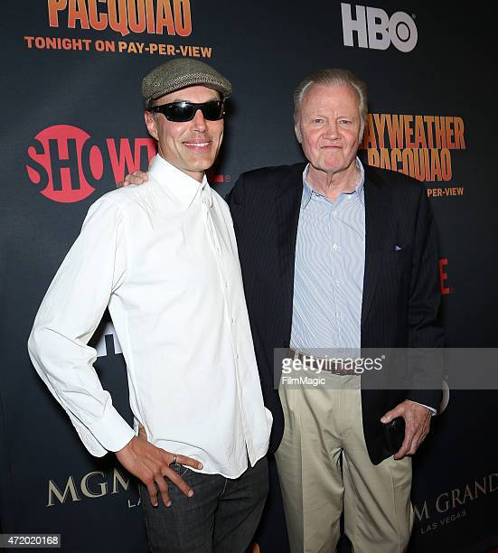 Actors James Haven and Jon Voight attend the SHOWTIME And HBO VIP PreFight Party for 'Mayweather VS Pacquiao'at MGM Grand Hotel Casino at on May 2...