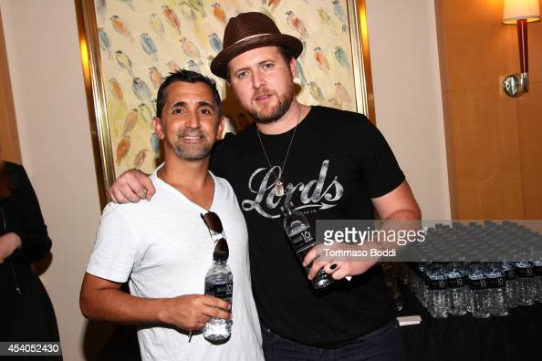 Actors James Madio and A J Buckley attend the GBK Productions Luxury Lounge honoring the best in TV held at LErmitage on August 23 2014 in Beverly...