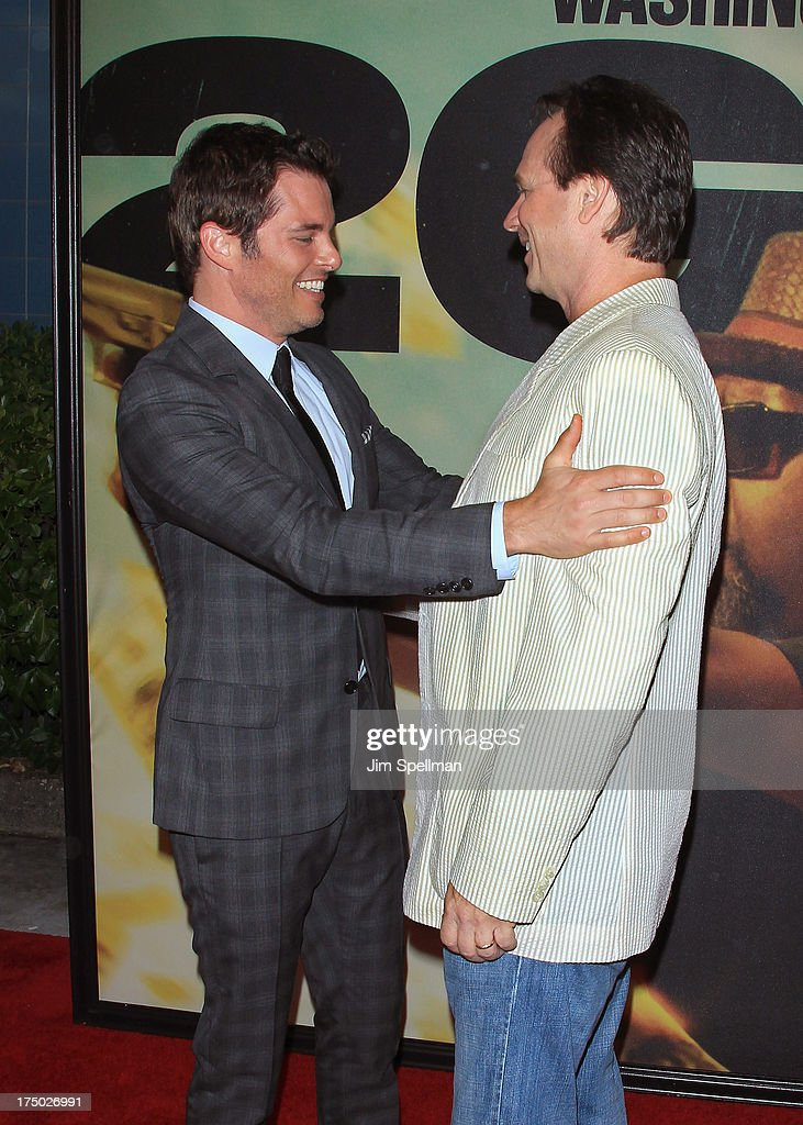 Actors James Marsden and Bill Paxton attend the '2 Guns' New York Premiere at SVA Theater on July 29, 2013 in New York City.