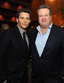 Actors James Marsden and Eric Stonestreet attend the screening after party of Open Road Films' 'The Loft' at Directors Guild Of America on January 27...