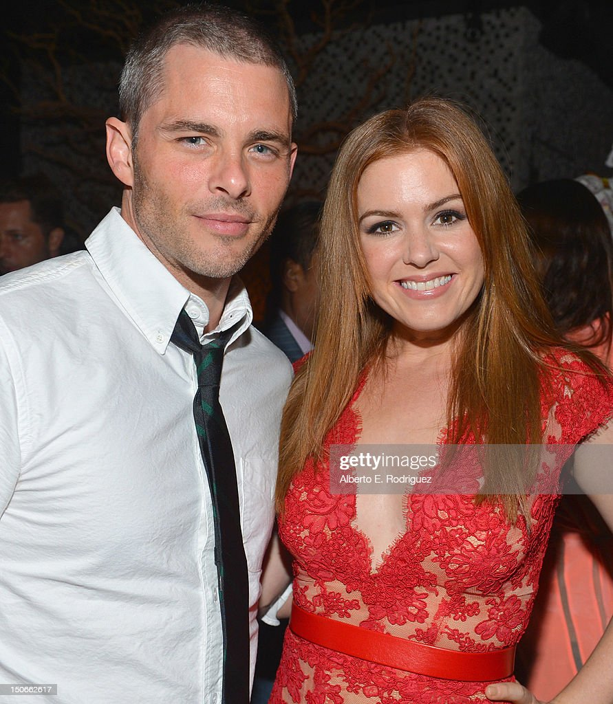Actors James Marsden and Isla Fisher attend the after party for the premiere of RADiUS-TWC's 'Bachelorette' at The ArcLight Cinemas on August 23, 2012 in Hollywood, California.