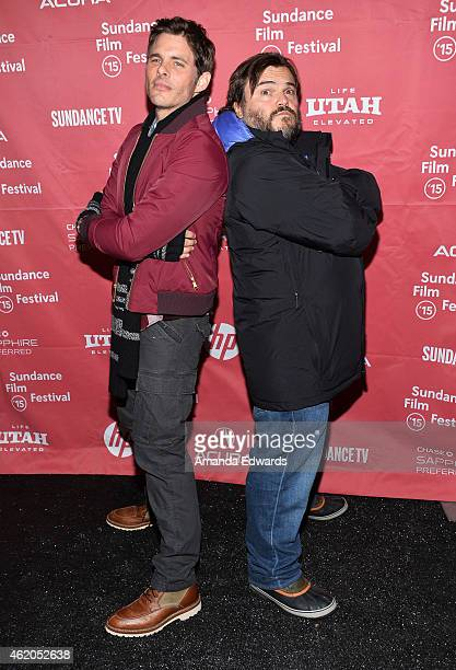 Actors James Marsden and Jack Black attend 'The D Train' premiere during the 2015 Sundance Film Festival on January 23 2015 in Park City Utah