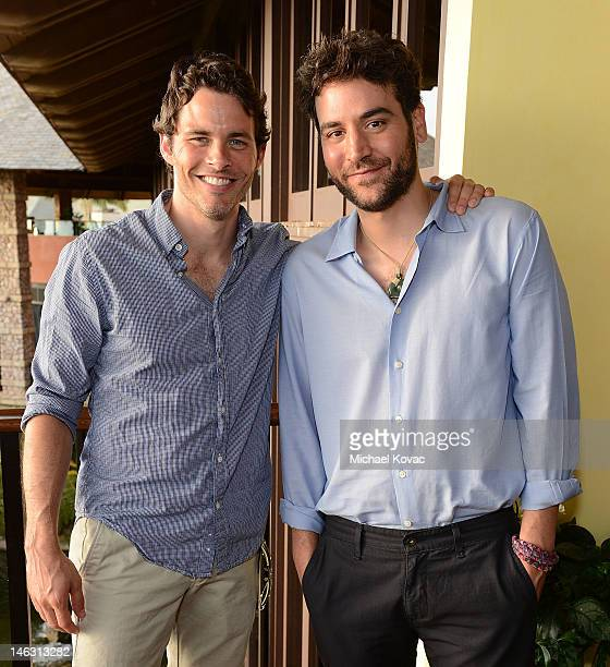 Actors James Marsden and Josh Radnor attend the Opening Night Reception for the 2012 Maui Film Festival at Capische on June 13 2012 in Wailea Hawaii