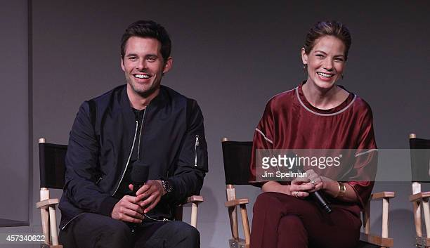 Actors James Marsden and Michelle Monaghan attend the Apple Store Soho Presents Nicholas Sparks James Marsden Michelle Monaghan And Liana Liberato...