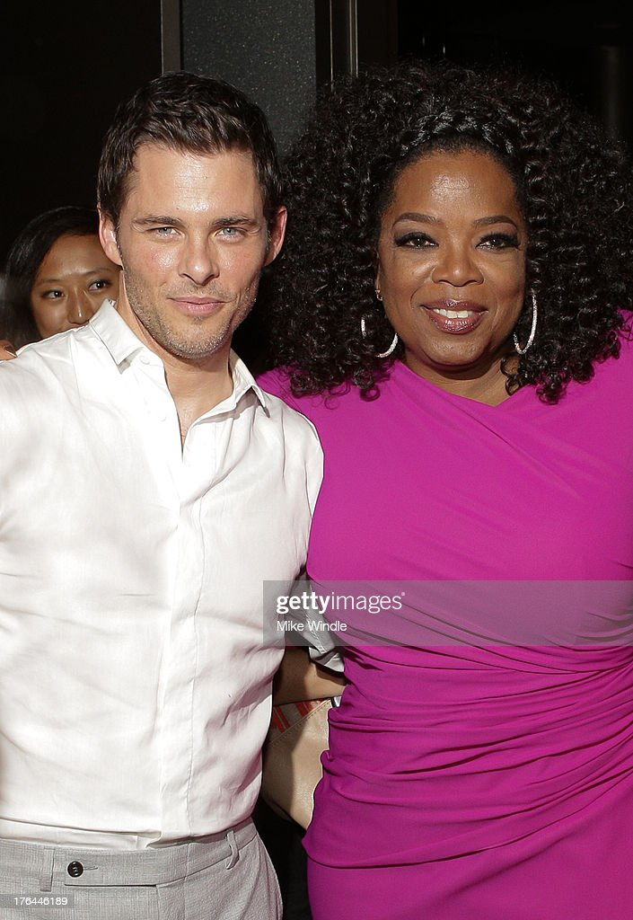 Actors <a gi-track='captionPersonalityLinkClicked' href=/galleries/search?phrase=James+Marsden&family=editorial&specificpeople=206902 ng-click='$event.stopPropagation()'>James Marsden</a> (L) and <a gi-track='captionPersonalityLinkClicked' href=/galleries/search?phrase=Oprah+Winfrey&family=editorial&specificpeople=171750 ng-click='$event.stopPropagation()'>Oprah Winfrey</a> attend the after party for LEE DANIELS' THE BUTLER Los Angeles premiere, hosted by TWC, Budweiser and FIJI Water, Purity Vodka and Stack Wines, held at the Ritz-Carlton on August 12, 2013 in Los Angeles, California.