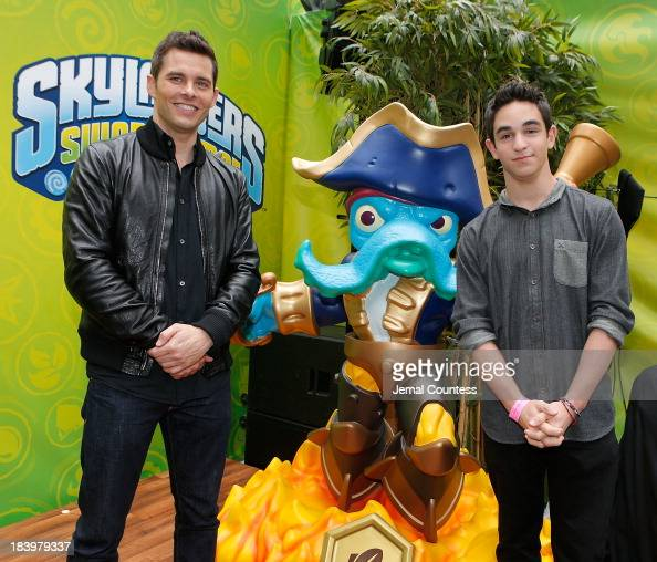 Actors James Marsden and Zachary Gordon attend the 'SWAPtoberfest' celebration for the launch of the new Activision game 'Skylanders SWAP Force' at...