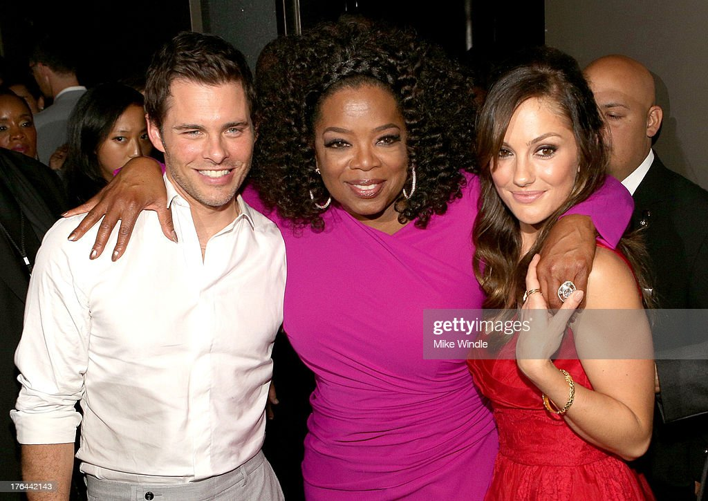 Actors James Marsden, Oprah Winfrey and Minka Kelly attend the after party for LEE DANIELS' THE BUTLER Los Angeles premiere, hosted by TWC, Budweiser and FIJI Water, Purity Vodka and Stack Wines, held at the Ritz-Carlton on August 12, 2013 in Los Angeles, California.
