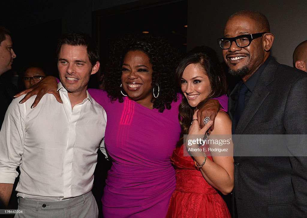 Actors James Marsden, Oprah Winfrey, Minka Kelly and Forest Whitaker attend the after party for the Premiere Of The Weinstein Company's 'Lee Daniels' The Butler' at Regal Cinemas L.A. Live on August 12, 2013 in Los Angeles, California.