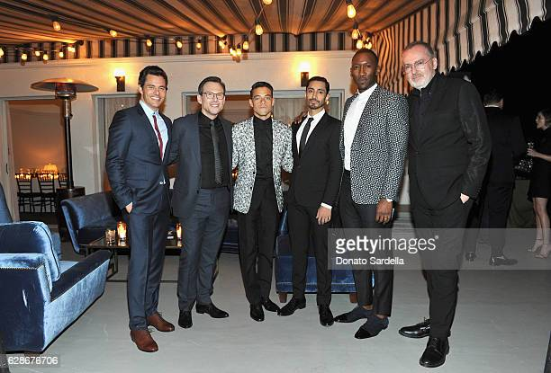 Actors James Marsden Rami Malek Christian Slater Riz Ahmed Mahershala Ali and host Jim Moore attend a private dinner hosted by GQ and Dior Homme in...