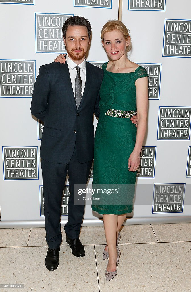 Actors James McAvoy and Anne-Marie Duff attend the afterparty for the opening night of 'Shakespeare's Macbeth' at Avery Fisher Hall, Lincoln Center on November 21, 2013 in New York City.