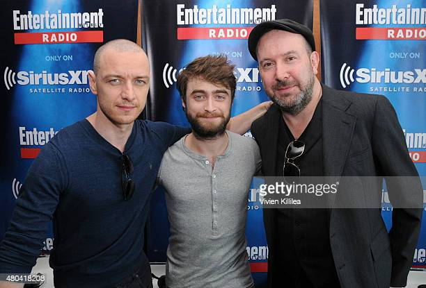 Actors James McAvoy and Daniel Radcliffe and director Paul McGuigan attend SiriusXM's Entertainment Weekly Radio Channel Broadcasts From ComicCon...