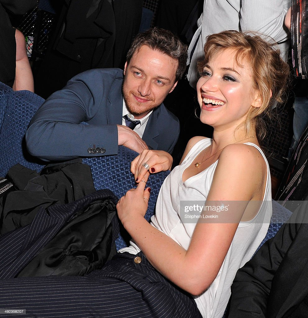Actors James McAvoy and Imogen Poots attend the after party for 'The Filth' Screening hosted by Magnolia Pictures and The Cinema Society at Landmark...