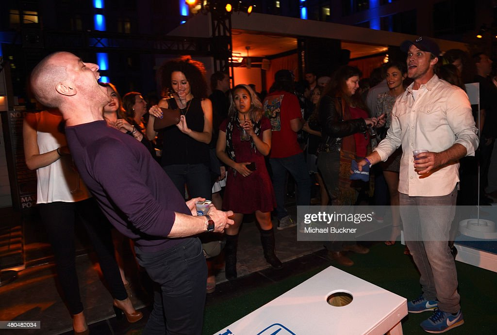 Actors James McAvoy and Jesse Spencer attend Entertainment Weekly's ComicCon 2015 Party sponsored by HBO Honda Bud Light Lime and Bud Light Ritas at...