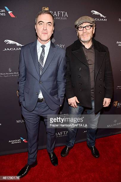 Actors James Nesbitt and Tcheky Karyo attend the BAFTA Los Angeles Tea Party at The Four Seasons Hotel Los Angeles At Beverly Hills on January 10...