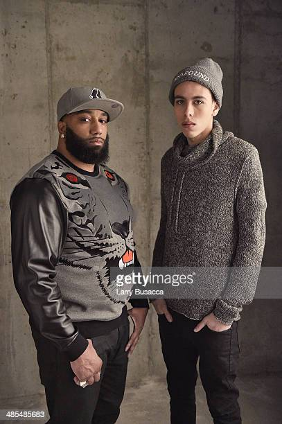 Actors James 'Primo' Grant and John Diaz from 'Five Star' pose for a portrait at the 2014 Tribeca Film Festival Getty Images Studio on April 18 2014...