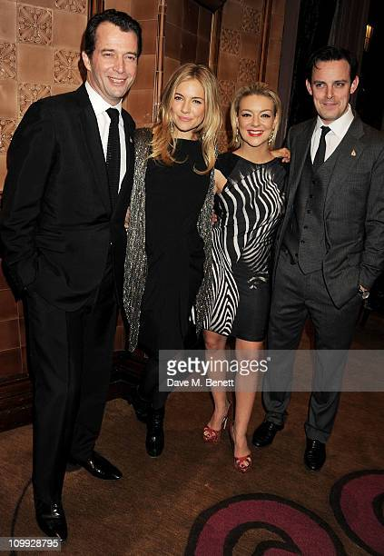Actors James Purefoy Sienna Miller Sheridan Smith and Harry HaddenPaton attend an after party celebrating the Gala Preview of the new west end...