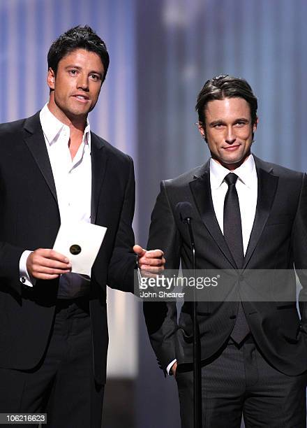 Actors James Scott and Jay Kenneth Johnson present the Outstanding Drama Series Directing Team award during the 36th Annual Daytime Emmy Awards at...