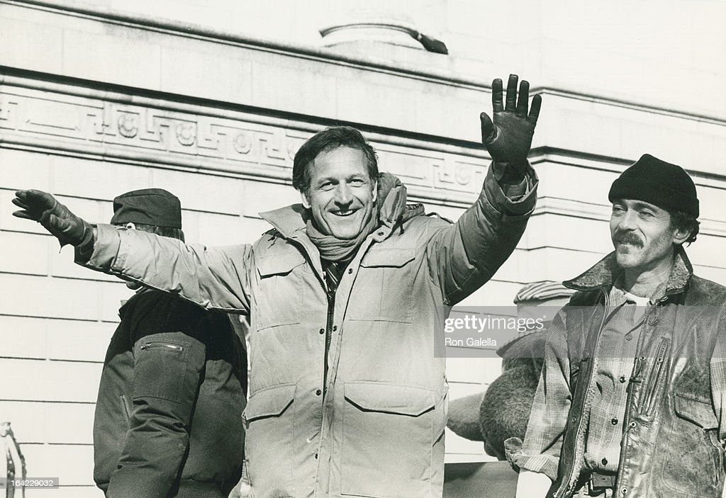 Actors James Sikking Daniel Travanti and Bruce Weitz attend 58th Annual Macy's Thanksgiving Day Parade on November 22 1984 in New York City