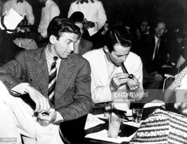 Actors James Stewart and Henry Fonda at Slapsy Maxies Cafe
