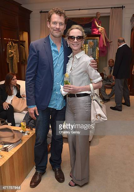 Actors James Tupper and Anne Heche attend Ralph Lauren Beverly Hills Hosts Patricia Underwood 'The Way You Wear Your Hat' Book Signing at Ralph...