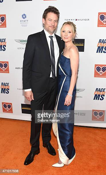 Actors James Tupper and Anne Heche attend the 22nd Annual Race To Erase MS Event at the Hyatt Regency Century Plaza on April 24 2015 in Century City...