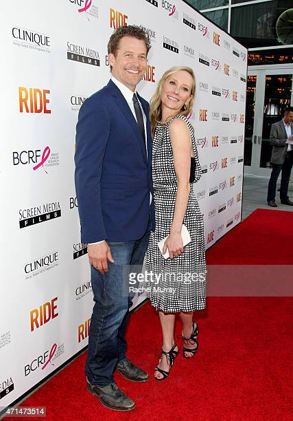 Actors James Tupper and Anne Heche attend the Los Angeles premiere of 'Ride' at ArcLight Cinemas on April 28 2015 in Hollywood California