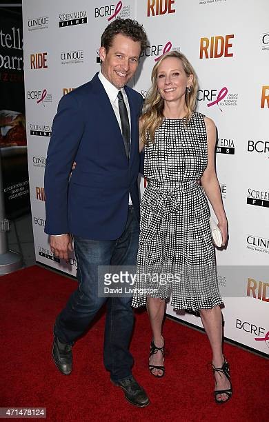 Actors James Tupper and Anne Heche attend the premiere of 'Ride' at ArcLight Hollywood on April 28 2015 in Hollywood California