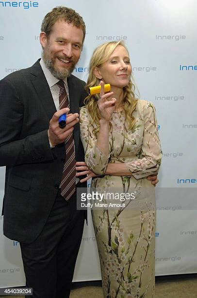 Actors James Tupper and Anne Heche with Innergie at Kari Feinstein's Style Lounge presented by Paragon at Andaz West Hollywood on August 23 2014 in...