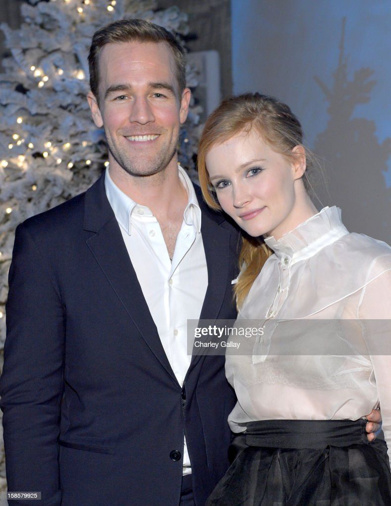 Actors <a gi-track='captionPersonalityLinkClicked' href=/galleries/search?phrase=James+Van+Der+Beek&family=editorial&specificpeople=539017 ng-click='$event.stopPropagation()'>James Van Der Beek</a> (L) and <a gi-track='captionPersonalityLinkClicked' href=/galleries/search?phrase=Kimberly+Van+Der+Beek&family=editorial&specificpeople=7877607 ng-click='$event.stopPropagation()'>Kimberly Van Der Beek</a> attend Bob Weinstein & Harvey Weinstein's holiday event to benefit the Robin Hood Foundation and Hurricane Sandy Relief Fund hosted by Samsung Galaxy at Smashbox West Hollywood on December 19, 2012 in West Hollywood, California.