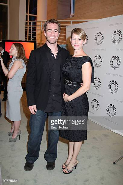 Actors James Van Der Beek and Meredith Monroe attend 'Dawson's Creek A Look Back' at The Paley Center for Media on November 4 2009 in Beverly Hills...