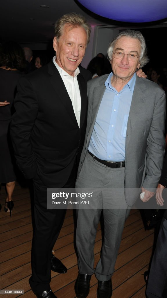 Actors James Woods (L) and <a gi-track='captionPersonalityLinkClicked' href=/galleries/search?phrase=Robert+De+Niro&family=editorial&specificpeople=201673 ng-click='$event.stopPropagation()'>Robert De Niro</a> attend the Vanity Fair And Gucci Party during the 65th Annual Cannes Film Festival at Hotel Du Cap on May 19, 2012 in Antibes, France.