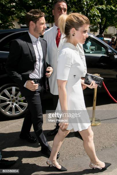 Actors Jamie Bell and Kate Mara are seen on June 24 2017 in Paris France